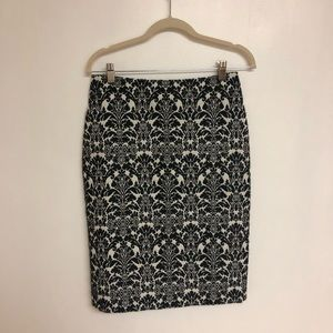 NWT Talbots Pencil Skirt Size 4 Black And White